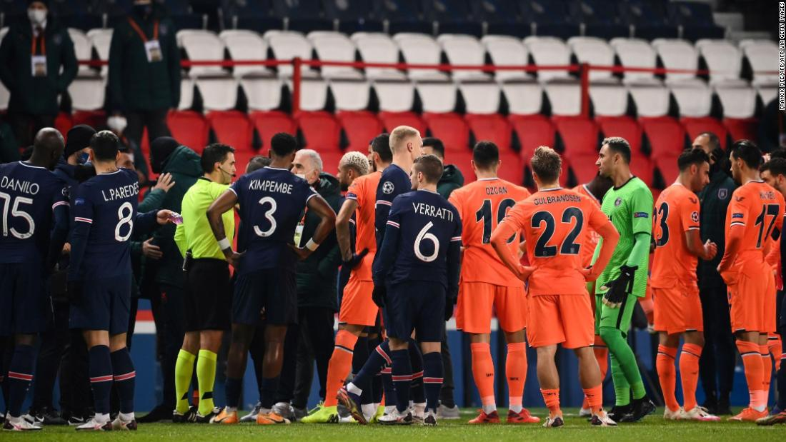 PSG vs Istanbul Basaksehir: Teams walk off pitch following alleged racist incident
