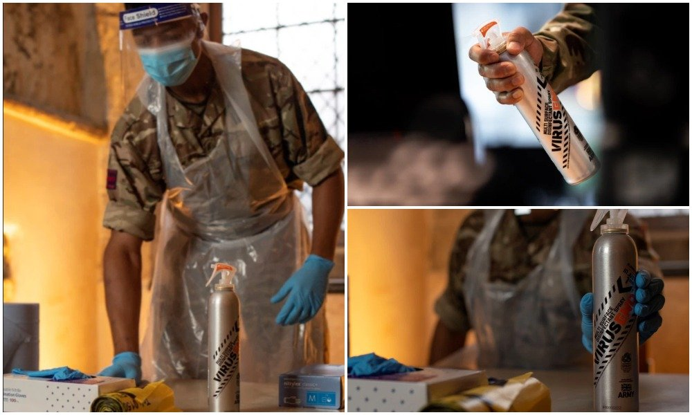 British Army disinfectant kills 99% of coronavirus cells