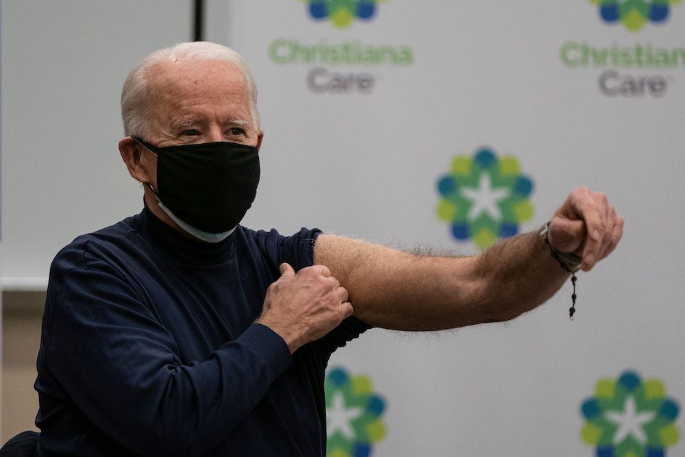 Biden receives COVID-19 vaccine live on TV