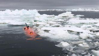 A trek under Thwaites Glacier's ice shelf reveals specific risks of warm water