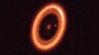 The tiny dot in this image may be the first look at exomoons in the making