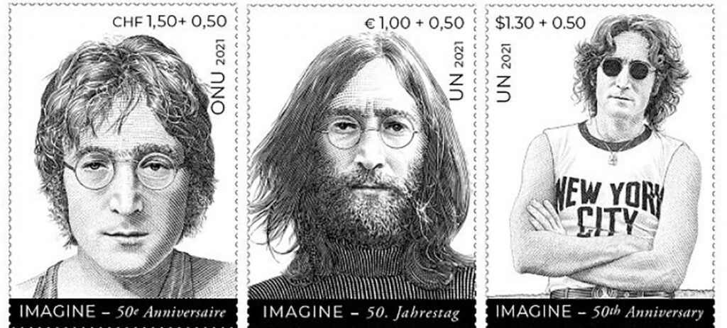 John Lennon, stamps inspiring message of peace, on UN's big week