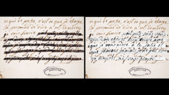 Ink analysis reveals Marie Antoinette's letters' hidden words and who censored them