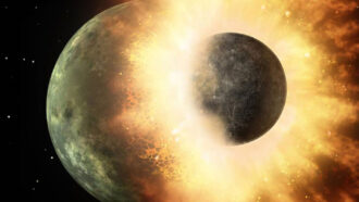 Space rocks may have bounced off baby Earth, but slammed into Venus